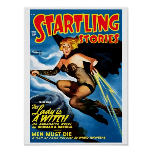 Startling Stories - The Lady is A Witch Poster