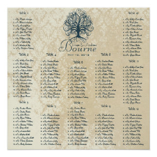 Starts at $13.20 Teal Tree Seating Chart 12 Tables