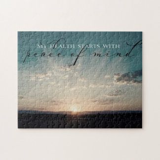 Starts With Peace Of Mind Jigsaw Puzzle