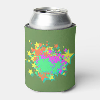 STARURST ON GREEN CAN COOLER