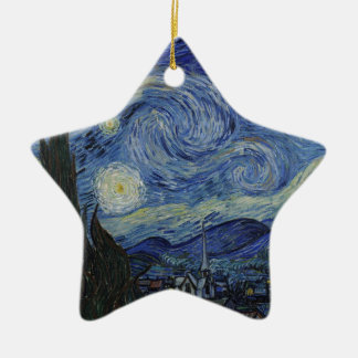 Stary Night by Vincent Van Gogh Ceramic Star Ornament