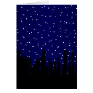 Stary Night Cityscape Card