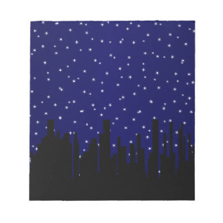 Stary Night Cityscape Notepad