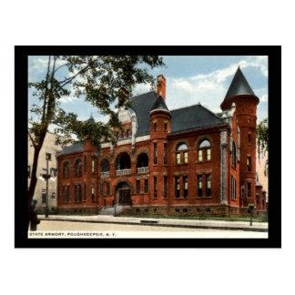 State Armory, Poughkeepsie, New York Vintage Postcard