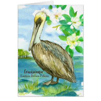 State Bird of Louisiana Pelican Blank Card