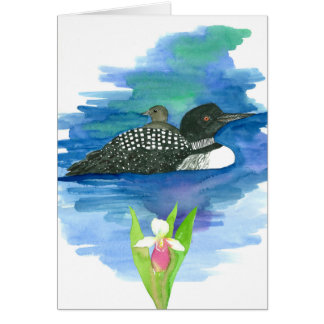 State Bird of Minnesota Common Loon Blank Card
