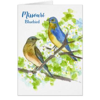 State Bird of Missouri Bluebirds Blank Card