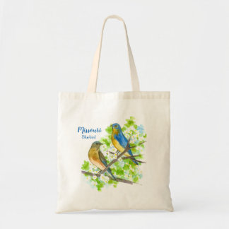State Bird of Missouri Bluebirds Tote Bag