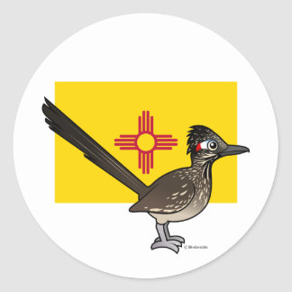 State Birdorable of New Mexico: Roadrunner Classic Round Sticker