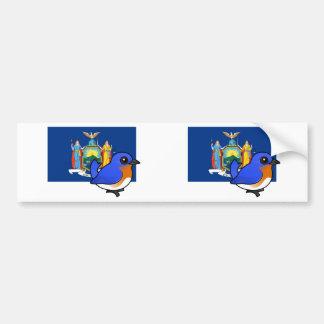 State Birdorable of New York: Eastern Bluebird Bumper Sticker