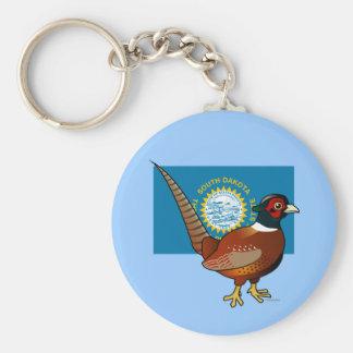 State Birdorable of South Dakota: Common Pheasant Basic Round Button Keychain