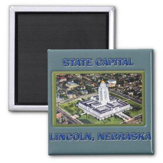 State Capital Lincoln Nebraska Magnet