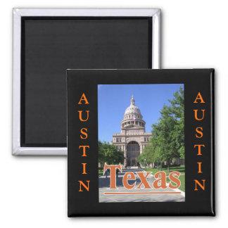 State Capitol Building, Austin, Texas Square Magnet