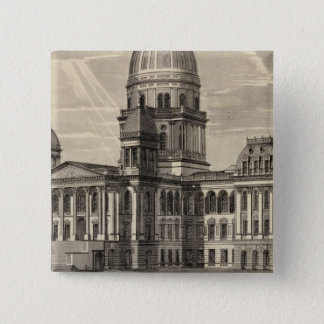 State Capitol building, Springfield, Ill 2 Inch Square Button