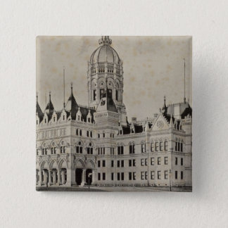 State Capitol, Hartford 2 Inch Square Button