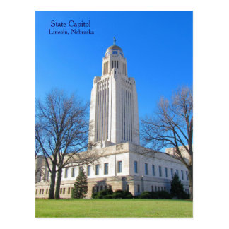 State Capitol Lincoln, NE postcard best1