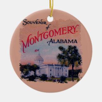 State Capitol of Alabama Round Ceramic Ornament