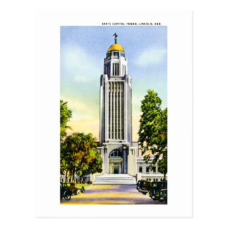 State Capitol Tower, Lincoln, Nebraska Postcard