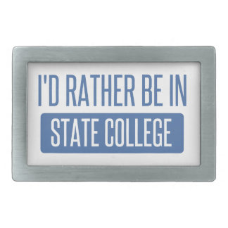 State College Belt Buckle