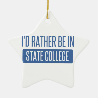 State College Ceramic Star Ornament