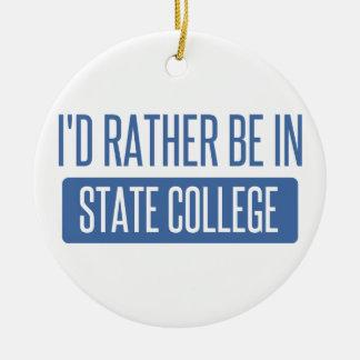 State College Round Ceramic Ornament
