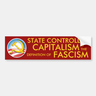 State Controlled Capitalism Bumper Sticker