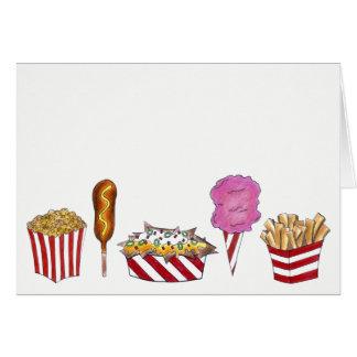 State Fair Carnival Foods Corndog Popcorn Nachos Card