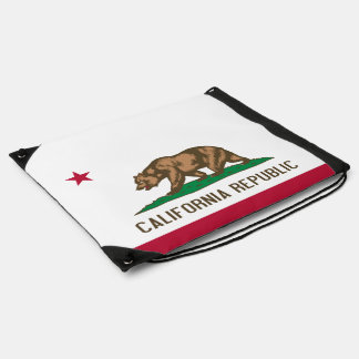 State Flag of California Drawstring Bag
