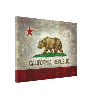 State flag of California, retro vintage style Canvas Print