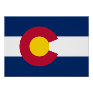 State Flag of Colorado Poster