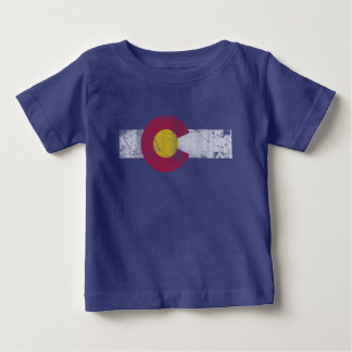 State Flag of Colorful Colorado Baby T-Shirt
