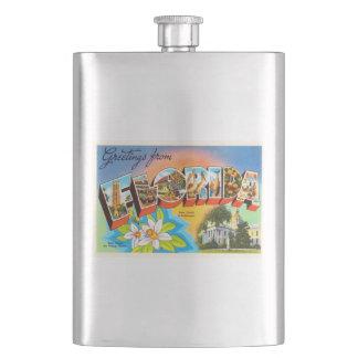 State Florida FL Old Vintage Travel Souvenir Flasks
