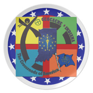 STATE INDIANA MOTTO GEOCACHER PLATES