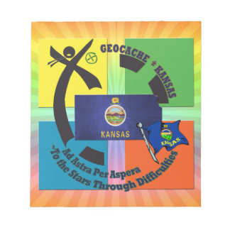 STATE KANSAS MOTTO  GEOCACHING NOTEPAD