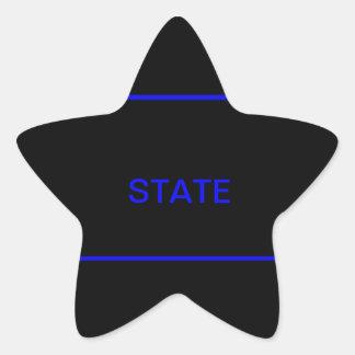 state law enforcement decal star sticker