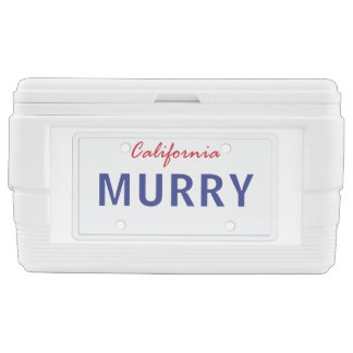 State License Plate, California Cooler