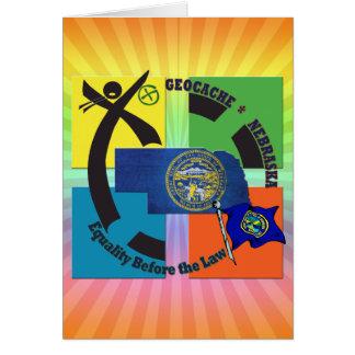 STATE NEBRASKA MOTTO GEOCACHER CARD