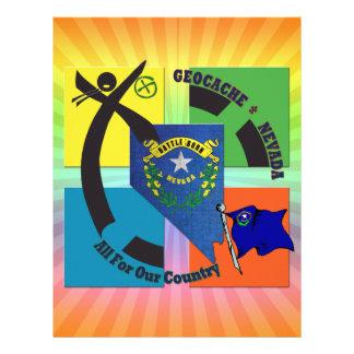 STATE NEVADA MOTTO GEOCACHER CUSTOM LETTERHEAD