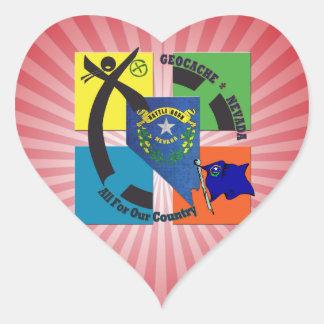 STATE NEVADA MOTTO GEOCACHER HEART STICKER