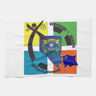STATE NEVADA MOTTO GEOCACHER KITCHEN TOWEL