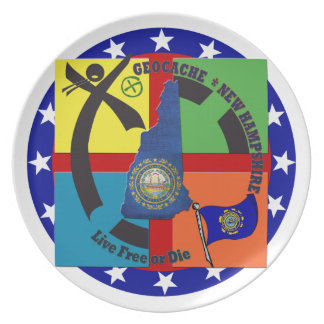 STATE NEW HAMPSHIRE GEOCACHER PARTY PLATES