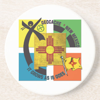 STATE  NEW MEXICO MOTTO GEOCACHER DRINK COASTERS