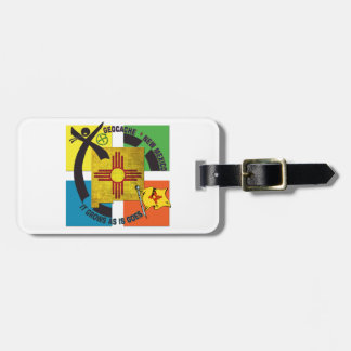 STATE  NEW MEXICO MOTTO GEOCACHER LUGGAGE TAG