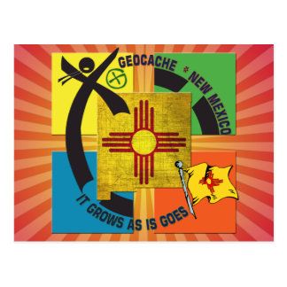STATE  NEW MEXICO MOTTO GEOCACHER POSTCARD