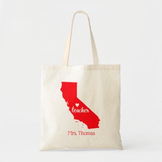 State of California Personalized Teacher Tote