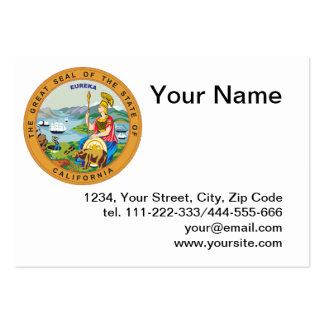 State of California seal Large Business Card