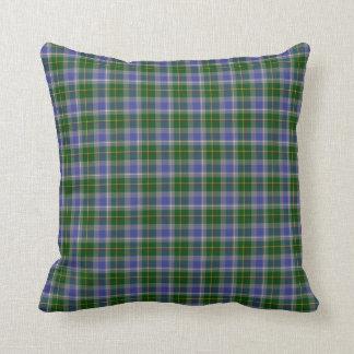 State of Connecticut Tartan Throw Pillow