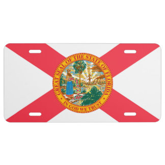 State of Florida Flag for Display License Plate