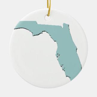 State of Florida Round Ceramic Ornament