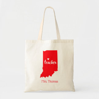 State of Indiana Personalized Teacher Tote